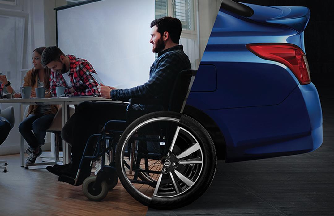 Nissan Versa Go: un auto para personas con discapacidad